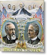 Presidential Campaign, 1888 Metal Print