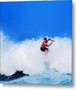Pro Surfer Alex Ribeiro Metal Print