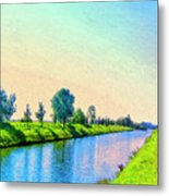 Provence Canal Metal Print