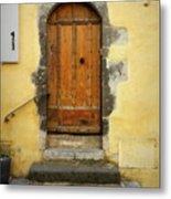 Provence Door Number 6 Metal Print