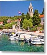 Prvic Luka Island Village Waterfront View Metal Print