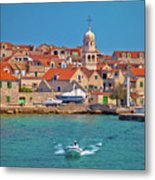 Prvic Sepurine Waterfront And Stone Architecture View Metal Print