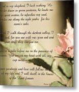 Psalm 23 Metal Print