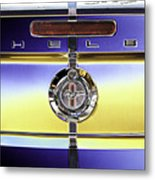 Psychedelic Shelby Ford Mustang Trunk Lid And Badge 4 Metal Print