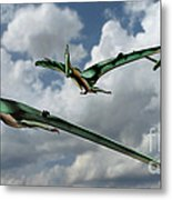 Pterodactyls In Flight Metal Print