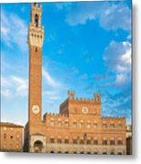 Public Palace With The Torre Del Mangia In Siena, Tuscany Metal Print