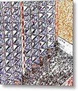 Pueblo Downtown Design 2 Metal Print