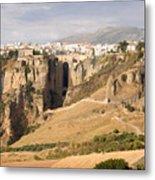 Puente Nuevo Tajo De Ronda Andalucia Spain Europe Metal Print