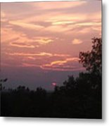 Purple Summer Evening Metal Print
