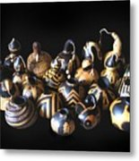 Pyrographed Gourds Metal Print