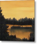 Quiet Sunset Metal Print by Rebecca  Fitchett