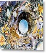 Rabbit Hole Or Robin Egg Metal Print