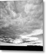 Rain Clouds And Weather Front Move Over Ring Road Hringvegur Across The Skeidararsandur Sand Plain S Metal Print