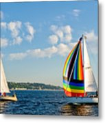 Rainbow Sails Metal Print