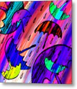 Rainy Day Love Metal Print