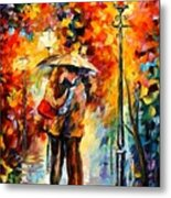 Rainy Kiss Metal Print