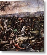 Raphael The Battle At Pons Milvius  Metal Print