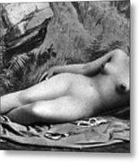 Reclining Nude, C1885 Metal Print