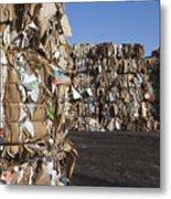 Recycling Facility Metal Print by Paul Edmondson