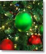 Red And Green Holiday Metal Print