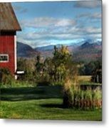 Red Barn In Newbury Vermont Metal Print