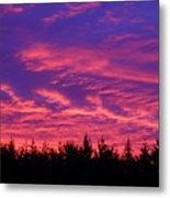 Red Clouds At Dawn Metal Print