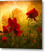 Red For Love Metal Print