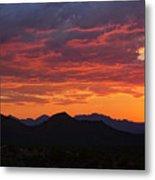 Red Hot Desert Skies  Metal Print