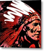 Red Pipe Metal Print