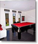 Red Pool Table Metal Print