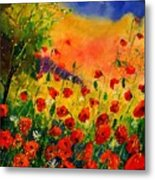 Red Poppies 451 Metal Print