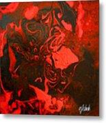 Red Series No. 2 Metal Print