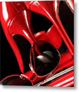 Red Stylish Accessories Metal Print