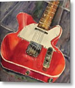 Red Telecaster Metal Print