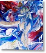 Red White And Blue Migraine Metal Print