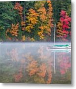 Reflection Of Fall Metal Print