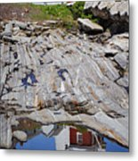 Reflections Of Pemaquid Metal Print