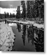 Reflections On Obsidian Creek Metal Print