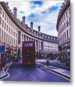 Regent Street In London Metal Print