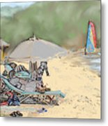 Reggae Beach Metal Print