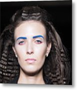 Rehearsals On The Catwalk Of London Fashion Week 2015 Metal Print