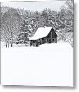 Remote Cabin In Winter Metal Print