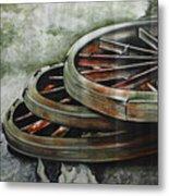 Resting Wheels Metal Print