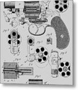 Revolving Fire Arm Patent 1881 Metal Print