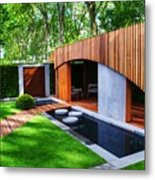 Rhs Chelsea Homebase Urban Retreat Garden Metal Print