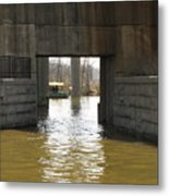 Richmond Floodwall Opening For Canal Metal Print