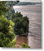 River Bluff View Metal Print