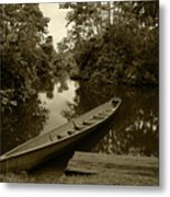 River Boat Filled With Water Metal Print