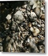 River Stones Metal Print
