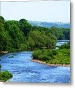River Wye From Hay-on-wye Bridge Metal Print
